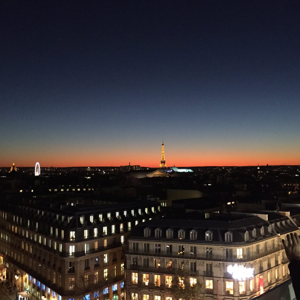 Sunset from Rooftop of Galerie Lafayette